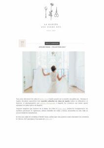 La mariée aux pieds nus