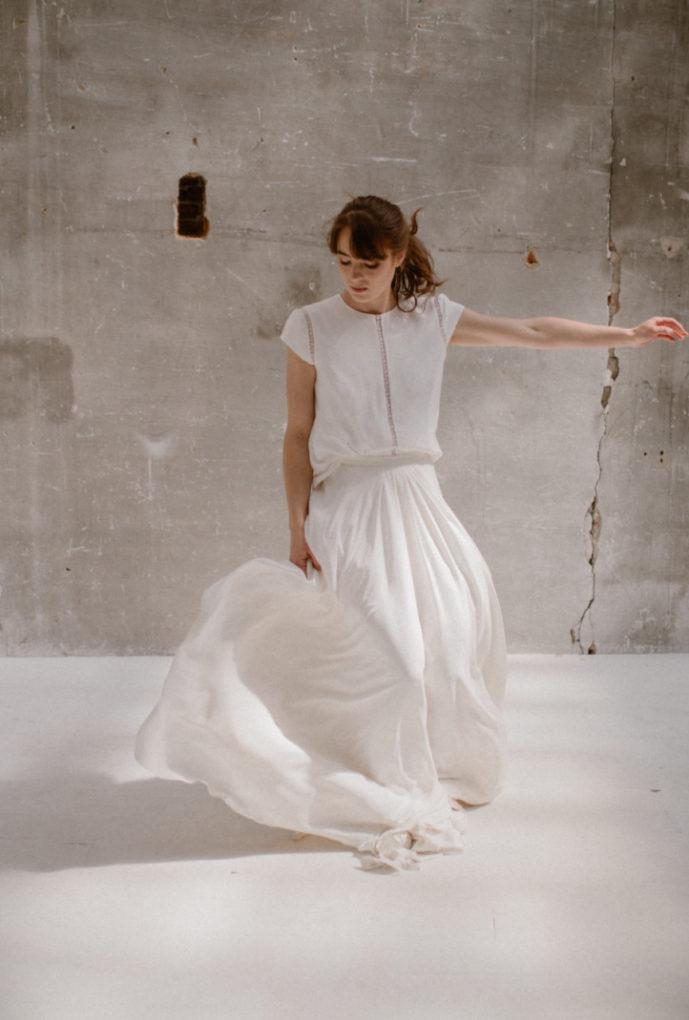 Photo de la robe Colette de face et en mouvement