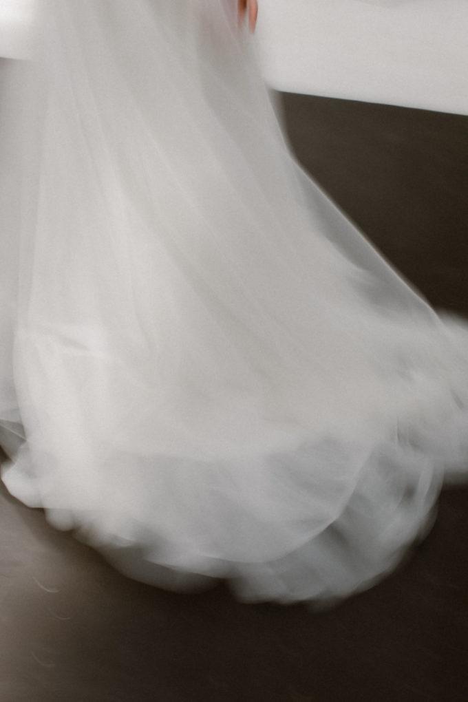 Photo de la jupe de la robe Héléna, flou artistique