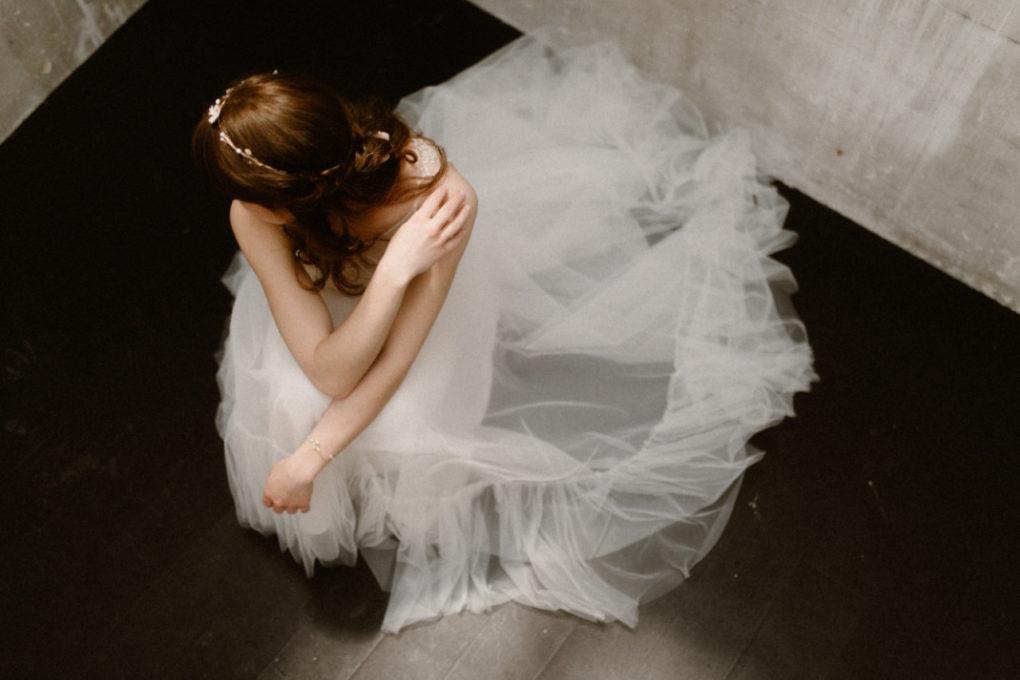 Photo en plongée de la robe Héléna