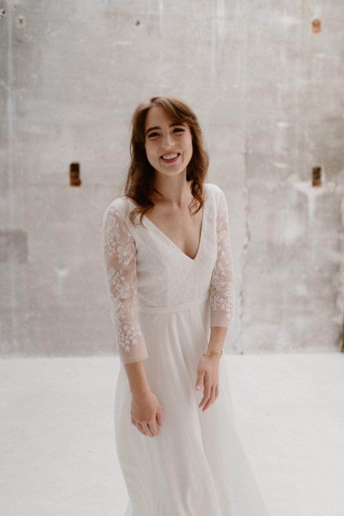 Photo de face de la robe Katy