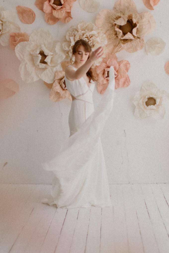 Photo de la robe Morgane en mouvement
