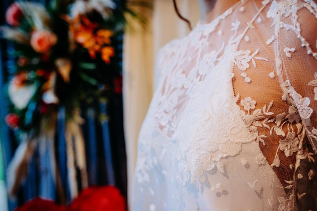 shooting photo des robes de mariées de Atelier Swan lors du Wedding After Work