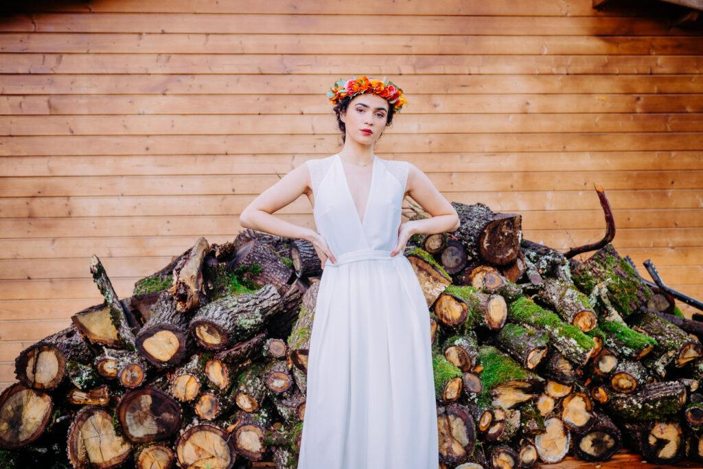 shooting photo robe de mariée Atelier Swan lors du Wedding After Work