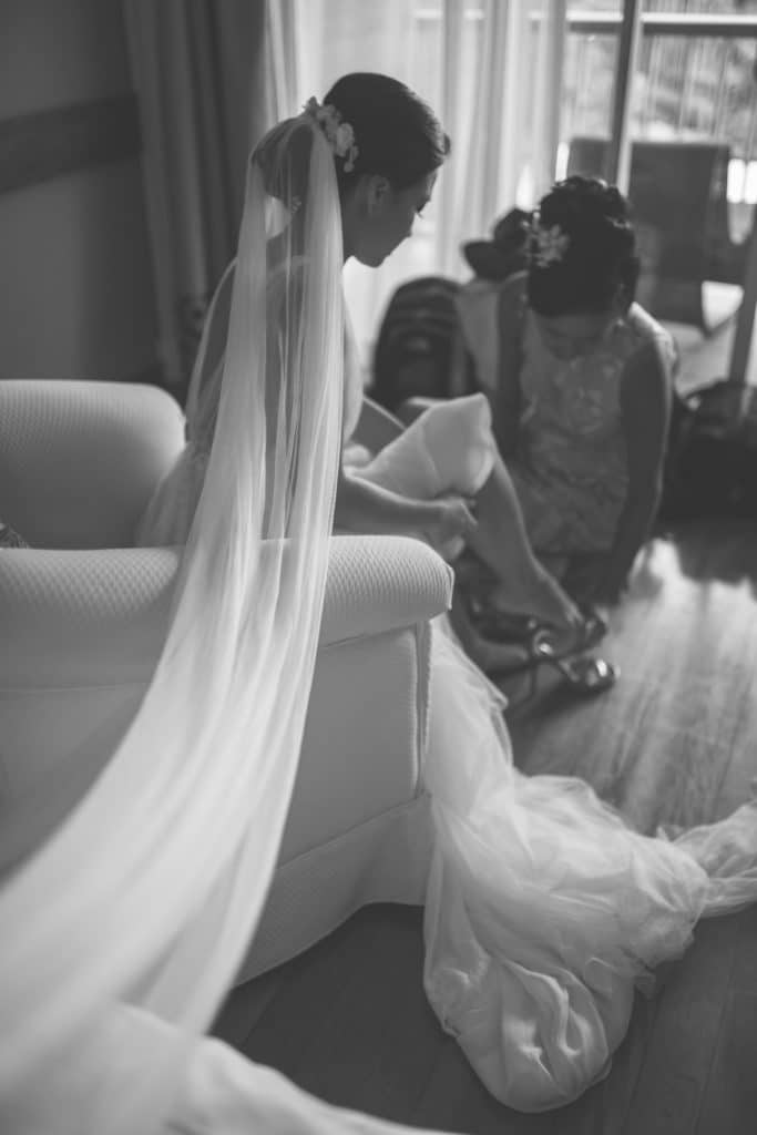 atelier swan robe de mariee rose&plume sur mesure dentelle de calais mariage tahiti