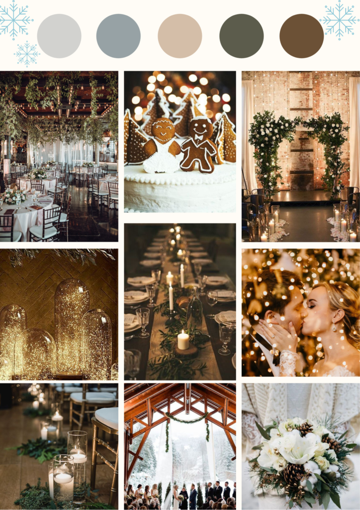 moodboard couleur décoration ambiance mariage hiver atelier swan