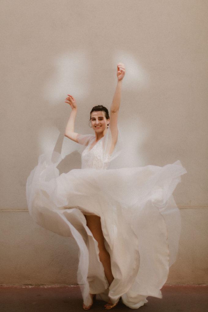 Photo de la robe Lisa en mouvement