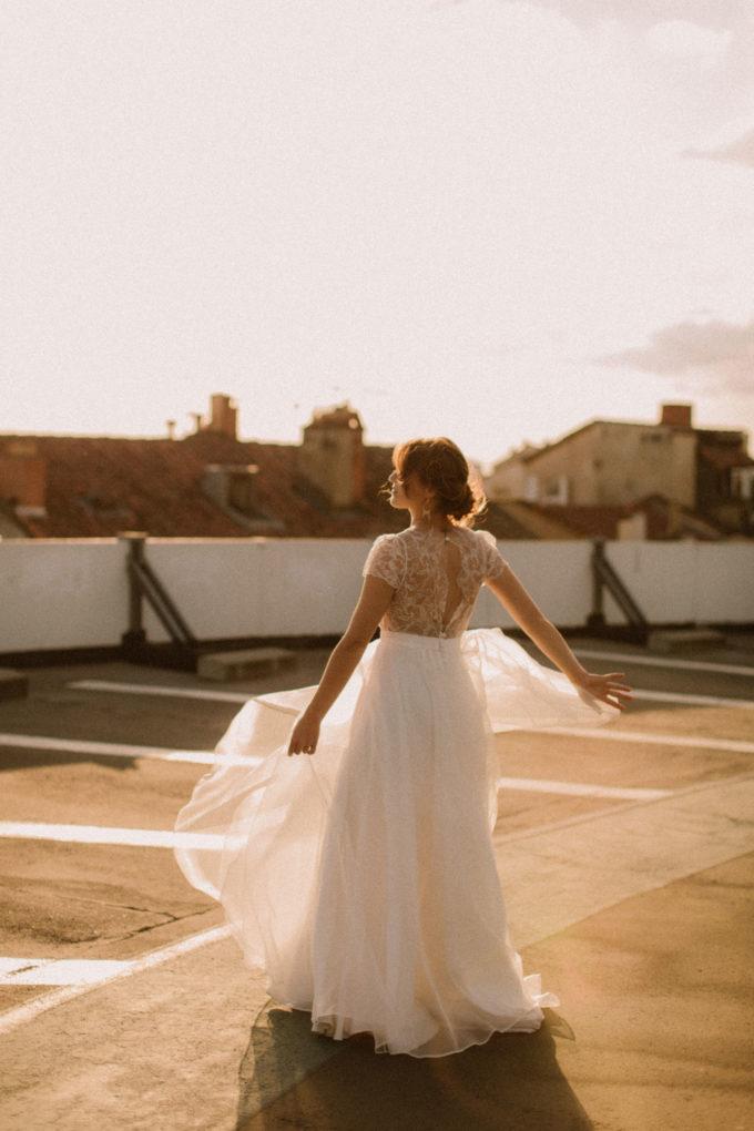 Photo plan large de la robe Naïs de dos